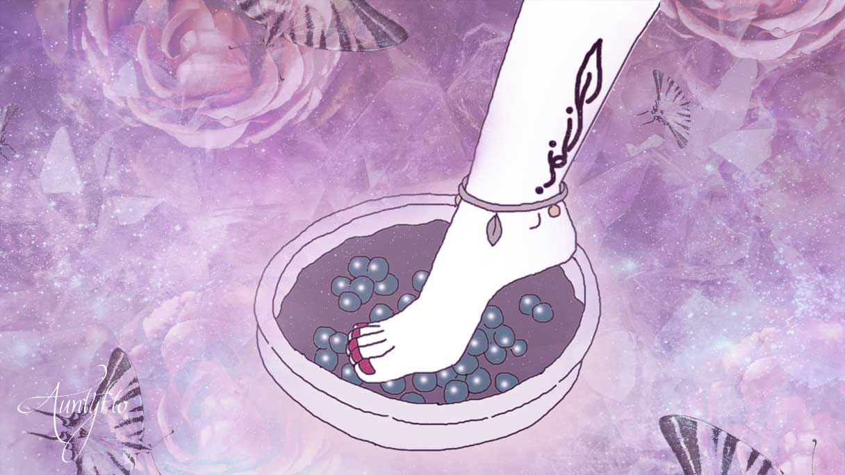 Reflexology Foot in marbles