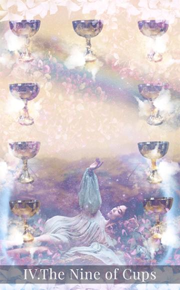 The Nine of Cups tarot card