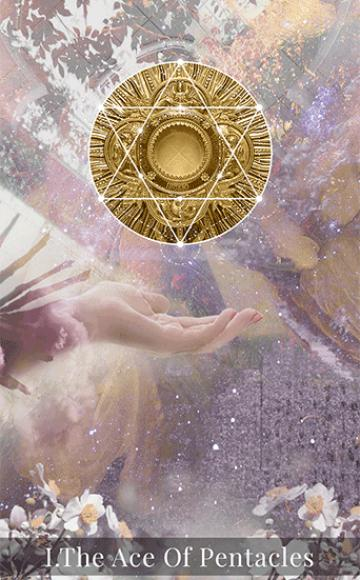 The Ace of Pentacles tarot card