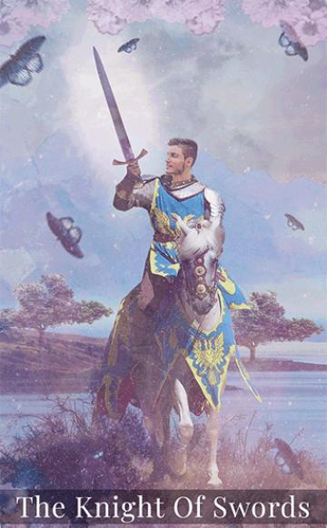 Knight of swords tarot card