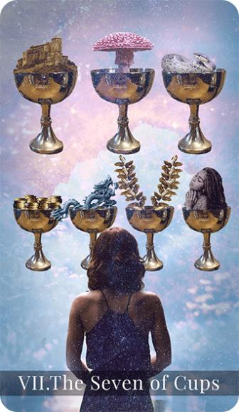 The Seven of Cups tarot card