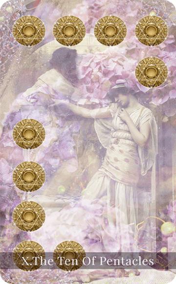 The Ten of Pentacles tarot card