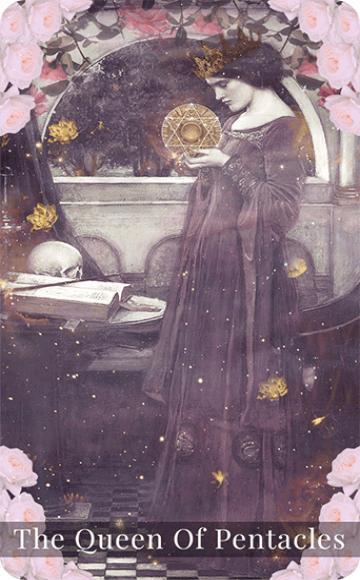 The Queen of Pentacles tarot card