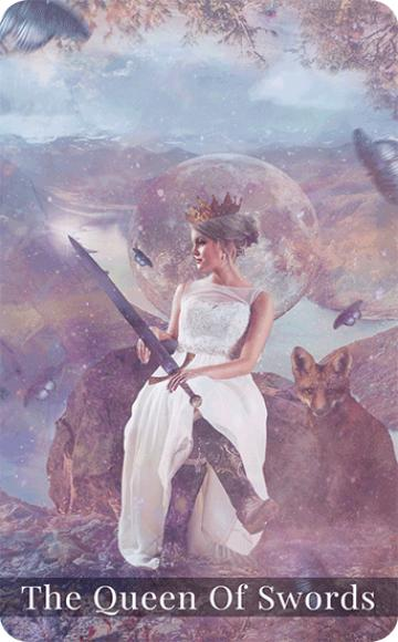 The Queen of Swords tarot card